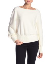 MILLY - Couture Wide Ribbed Pullover - Lyst