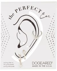 Dogeared - Sterling Silver The Perfect Ear Trio - 3-piece Set - Lyst