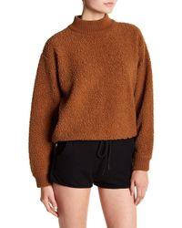 Six Crisp Days - Faux Shearling Mock Neck Sweater - Lyst