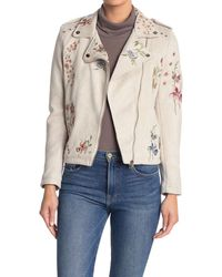 Love Token Mckinley Floral Embroidery Jacket - Gray