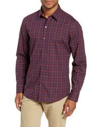 Zachary Prell Dimich Regular Fit Plaid Button-up Shirt - Purple