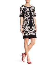 Eliza J - Floral Elbow Sleeve Shift Dress - Lyst