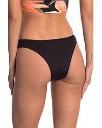 The Bikini Lab High Cut Ring Bikini Bottoms - Black