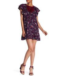 Anna Sui - Fairy Fields Crepe Dress - Lyst
