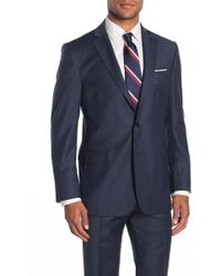 Brooks Brothers Navy Check Two Button Notch Lapel Regent Fit Suit Separates Jacket - Blue