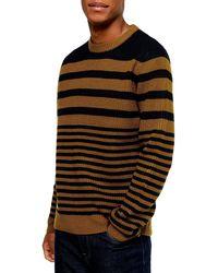 TOPMAN Stripe Crewneck Sweater - Multicolour