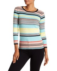 Vince Camuto - Colorblock Ribbed Jumper - Lyst
