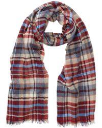 Tommy Bahama   Plaid Print Wool Blend Wrap Scarf   Lyst
