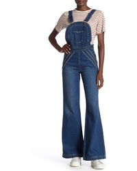 Free People Chasing Rainbows Overalls - Blue