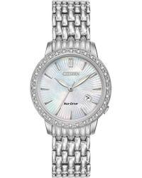 Citizen - Women's Eco-drive Diamond-accent Bracelet Watch - 0.0053 Ctw - Lyst