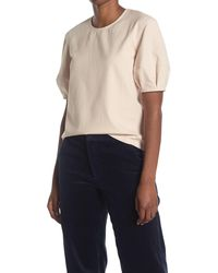 Club Monaco Puff Sleeve Top - Natural