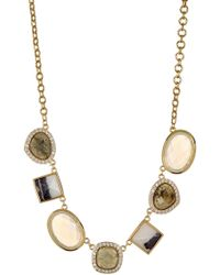 Cole Haan - 12k Gold Plated Semi-precious Stone & Pave Crystal Necklace - Lyst