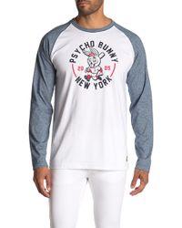 Psycho Bunny Bunny Graphic Raglan Long Sleeve T-shirt - Multicolour