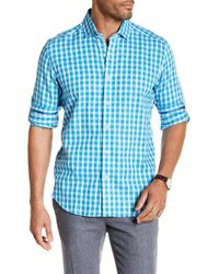 Robert Graham - Freddie Gingham Print Classic Fit Woven Shirt - Lyst