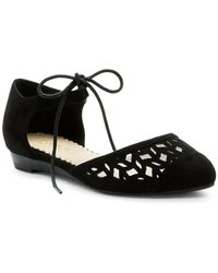 Restricted - Level Up Pointed Toe D'orsay Flat - Lyst