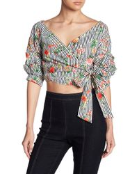 Do+Be Collection | Patterned Crop Top | Lyst