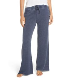 Joe's Jeans Wide Leg Sleep Pants - Blue