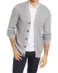 Nordstrom Rib Cotton Blend Cardigan - Gray