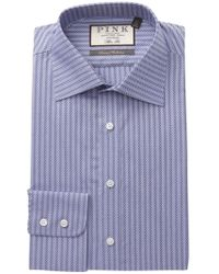 Thomas Pink - Ackerman Textured Slim Fit Dress Shirt - Lyst