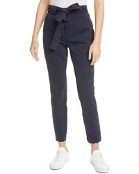 La Vie Rebecca Taylor Patrice Tapered Ankle Pants - Blue