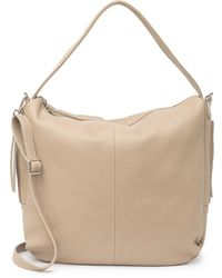 Luisa Vannini Pebbled Leather Structured Top Handle Bag In Fango At Nordstrom Rack - Natural
