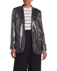 T Tahari Metallic Sequined Jacket
