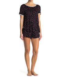 Kensie Polka Dot Pajama Set - Black