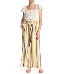 Eci Striped Tie Waist Pants - Multicolor