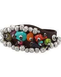 Uno De 50 - Road To Paradise Mixed Beaded Leather Bracelet - Lyst