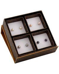 Splendid Assorted Multicolour 6-6.5mm Pearl Stud Earrings Set