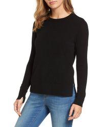 76dc145179 Halogen - (r) Crewneck Cashmere Sweater (regular   Petite) - Lyst