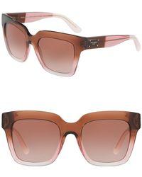 2f7c7e14c8 Lyst - Dolce   Gabbana Women s Dna 52mm Retro Sunglasses in Gray
