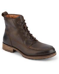 Lucky Brand Garrison Leather Lace-up Boot - Brown