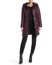 Kenneth Cole Hooded Quilted Puffer Coat - Multicolour