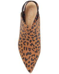 Schutz Riteli Leopard Print Leather Slingback Mule - Multicolor