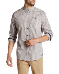 Kenneth Cole - Long Sleeve Besom Pocket Button Modern Fit Shirt - Lyst