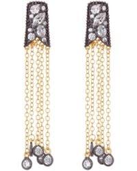 Freida Rothman - Rose Cut Stone Tassel Earrings - Lyst