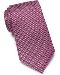 Nordstrom Bommer Mini Print Extra Large Tie - Pink