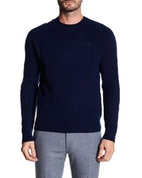 Brooks Brothers - Merino Wool Cable Knit Sweater - Lyst