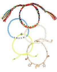 BP. Multi Bead Thread Bracelet - Multicolor
