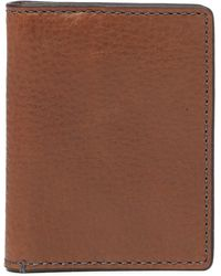 Fossil - Richard Leather Rfid Card Wallet - Lyst