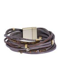Saachi - Easy Breezy Bead & Rhinestone Accent Multi-strand Bracelet - Lyst