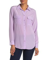 Equipment - Slim Signature Silk Button Down Shirt - Lyst