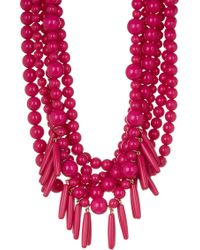 BaubleBar - Malibu Layered Beaded & Spike Fringe Statement Necklace - Lyst