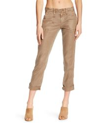 Level 99 - Lily Relaxed Linen Blend Cargo Pant - Lyst
