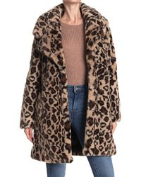 Laundry by Shelli Segal Leopard Print Faux Fur Coat - Brown