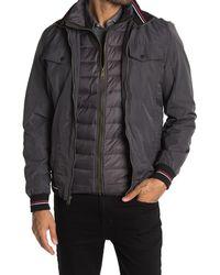 Indigo Star - Racine Woven Zip Jacket - Lyst