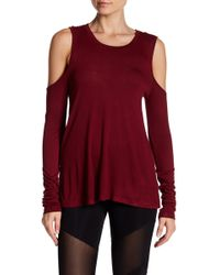 Sam Edelman - Long Sleeve Cold Shoulder Tee - Lyst
