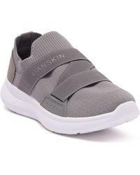 Danskin Sock Knit Cross Band Slip-on Sneaker - Gray
