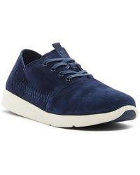 TOMS Del Rey Woven Suede Sneaker - Blue